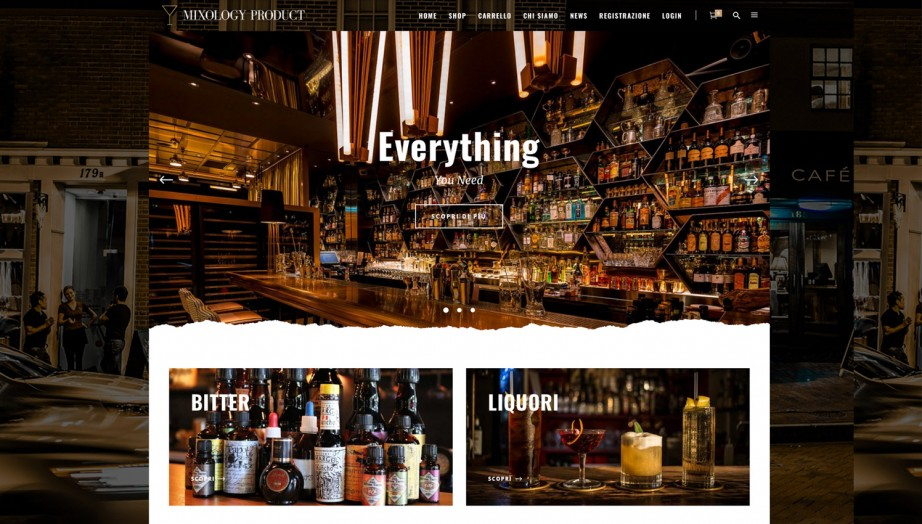 Realizzazione Sito Web Mixology Product | Everything You Need | Cocktails & Bar